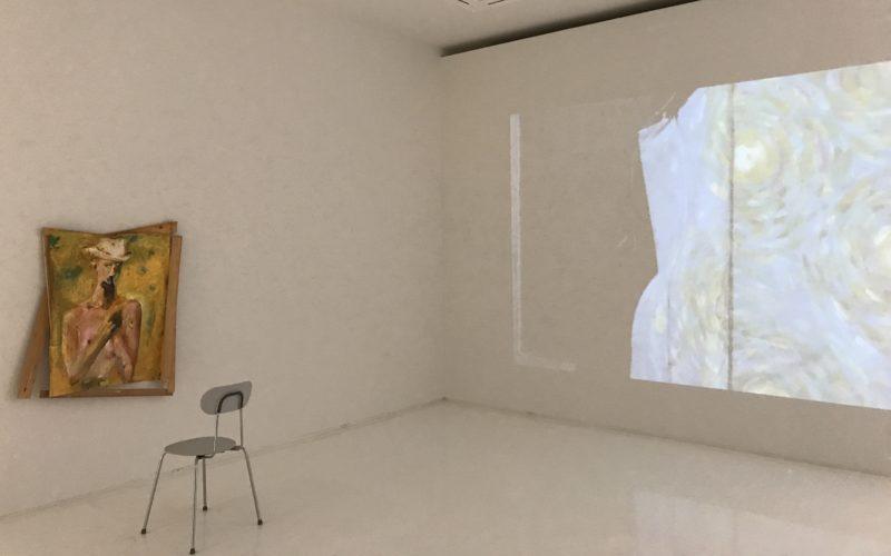 コンプレックス665 2Fのシュウゴアーツで開催していた「どう生きるか #2 六本木にて 千葉正也 小林正人 リー・キット 山本篤」の会場内
