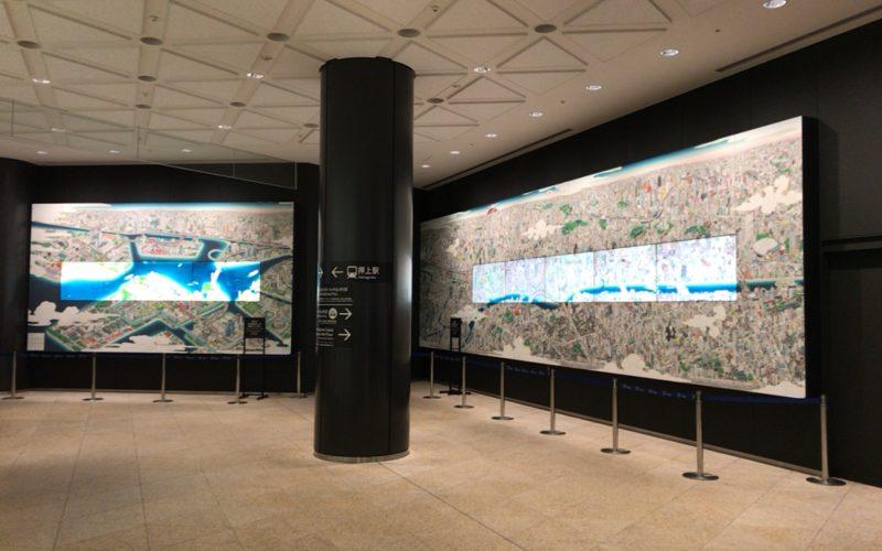 東京スカイツリーの1F団体フロアで上映している隅田川デジタル絵巻