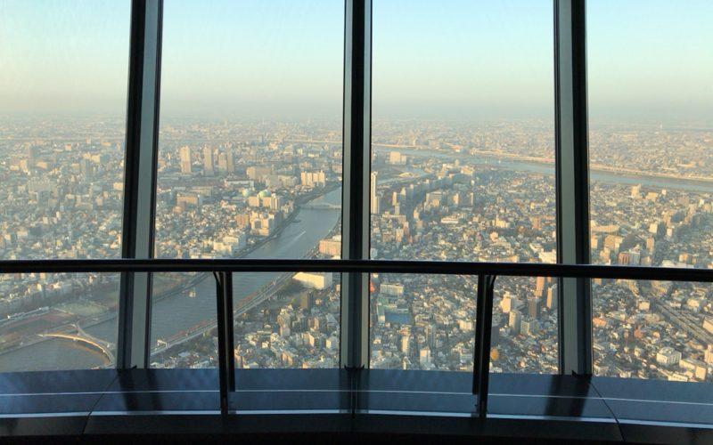 東京スカイツリーの天望デッキから見える景色