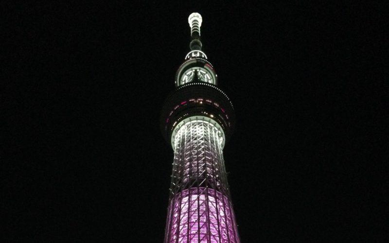 東京スカイツリーのライトアップ「雅」