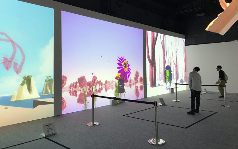 「WOW Visual Design Studio WOWが動かす世界」に展示していた映像連動作品「BAKERU」