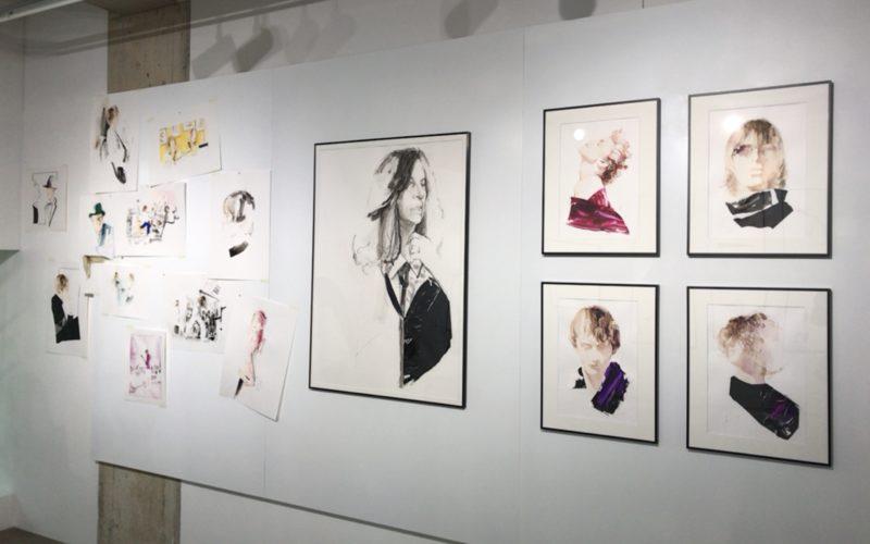 表参道ヒルズ同潤館3Fの表参道ROCKETで開催されたYASUNARI AWAZU exhibition「projection」の展示作品