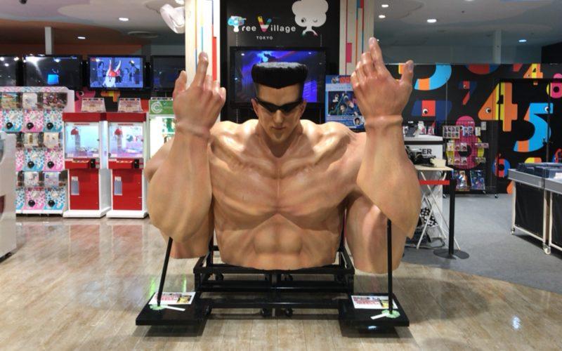 東京ソラマチ4Fの幽☆遊☆白書 × テレビ局公式ショップ ツリービレッジの会場に設置していた戸愚呂弟の胸像