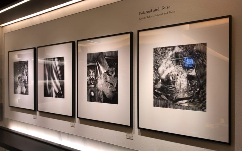 銀座蔦屋書店のスターバックス前展示スペースで開催されている田原桂一「Polaroid & Torse」に展示されているPolaroid
