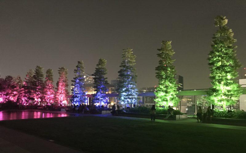 ギンザシックス屋上で開催した「チームラボ:呼応する木々 in ギンザシックスガーデン」の会場内
