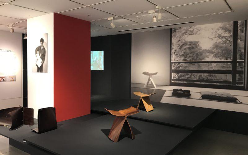 松屋銀座7Fのデザインギャラリー1953で開催した企画展「バタフライスツール 60th カタチの原点」の会場内