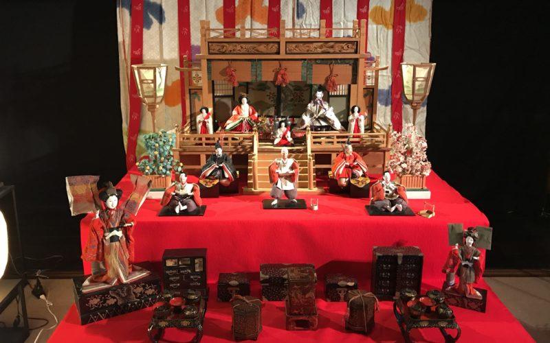 目黒雅叙園の百段階段で開催した百段雛まつりの会場内に展示していた雛壇
