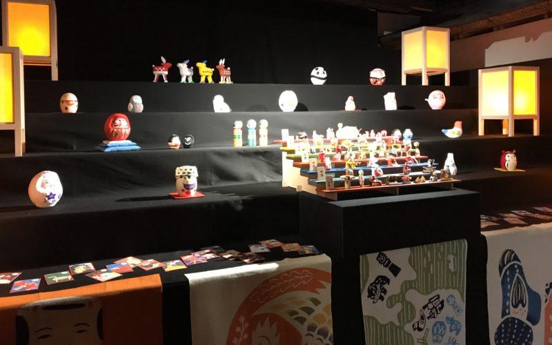 百段雛まつりで百段階段の頂上の間に展示していた中川政七商店 郷土玩具ルーム
