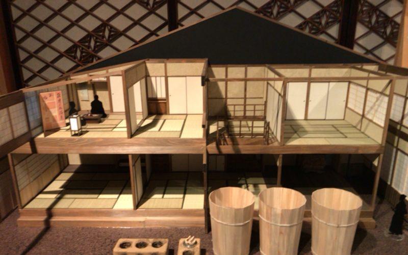 土佐から来たぜよ!坂本龍馬展で百段階段の清方の間に展示していた近江屋の模型