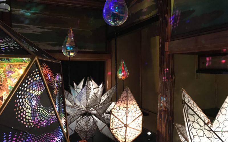 目黒雅叙園で開催した和のあかり×百段階段に展示していた和のミラーボール