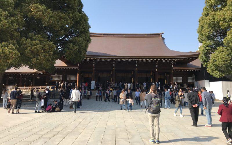 年間行事を開催する明治神宮の本殿