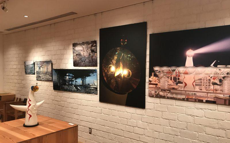 新丸ビル7Fの丸の内ハウスで開催された「万博公園の太陽の塔が見たい!」に展示された太陽の塔の模型と写真パネル