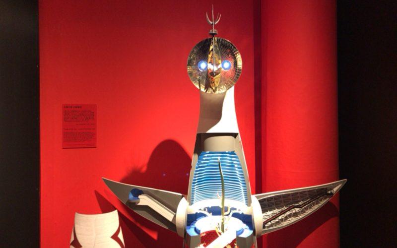 岡本太郎記念館で開催した「太陽の塔 1967―2018 岡本太郎が問いかけたもの」に展示していた太陽の塔の断面模型