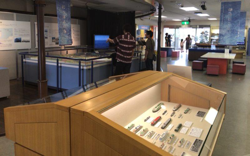 お台場船の科学館の別館展示場の館内