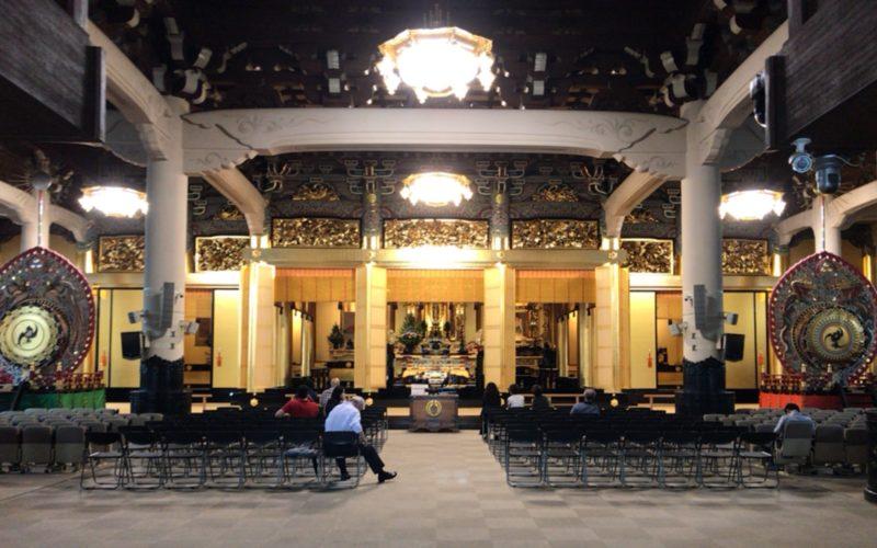 築地本願寺の年間行事を行う本堂