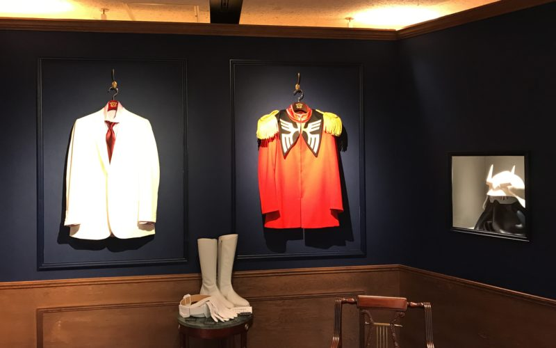 伊勢丹新宿本館7Fの催事場で開催した「機動戦士ガンダム×伊勢丹 ウェルカム トゥ ジオン」のシャアの書斎を模した展示スペース