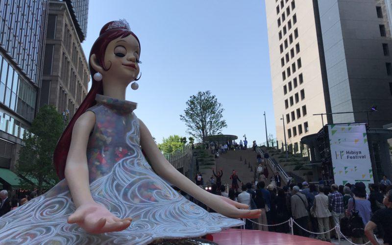 東京ミッドタウン日比谷で開催したHibiya Festivalに展示していたシンボルオブジェ「フローラ」