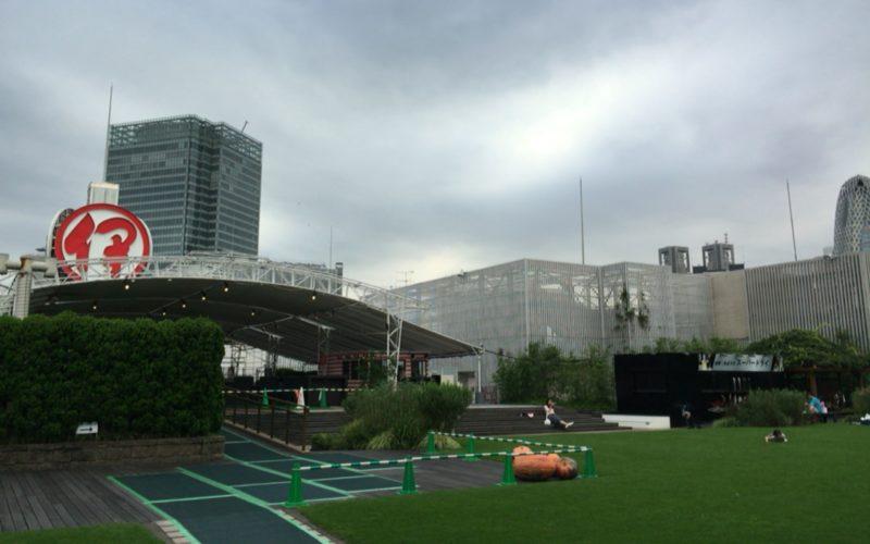 伊勢丹新宿のイベントとしてスカイパラダイス ビアガーデンがオープンした屋上アイ・ガーデン