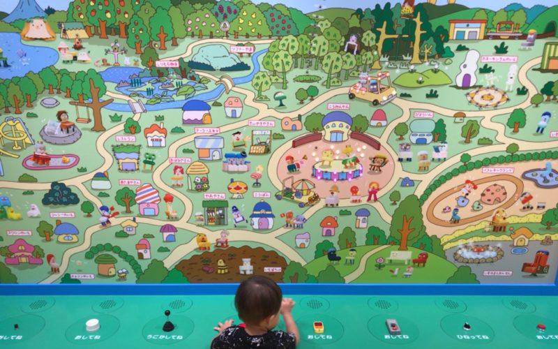 東武池袋7Fのにこはぴきっず内にあるいすのまち おさんぽマップ