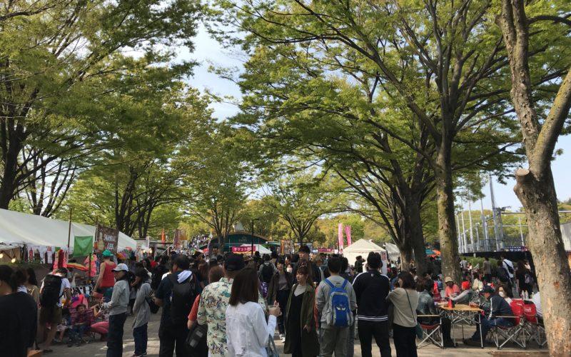 イベント開催中の代々木公園イベント広場
