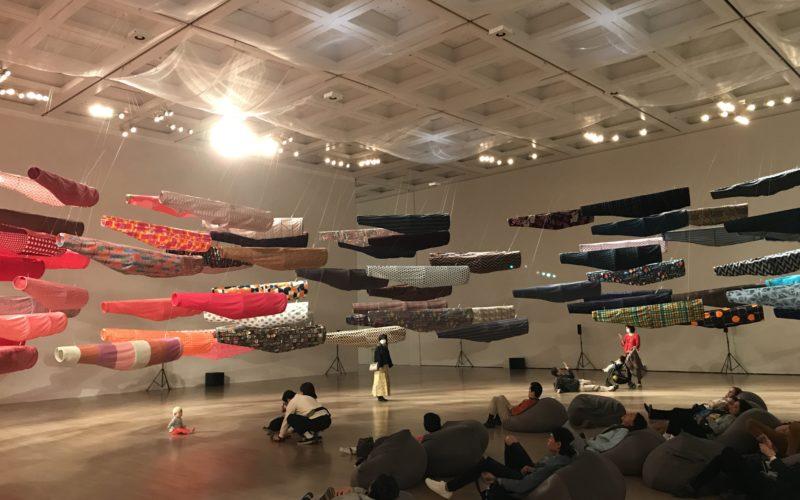 国立新美術館で開催したこいのぼりなう!須藤玲子×アドリアン・ガルデール×齋藤精一によるインスタレーションの展示作品