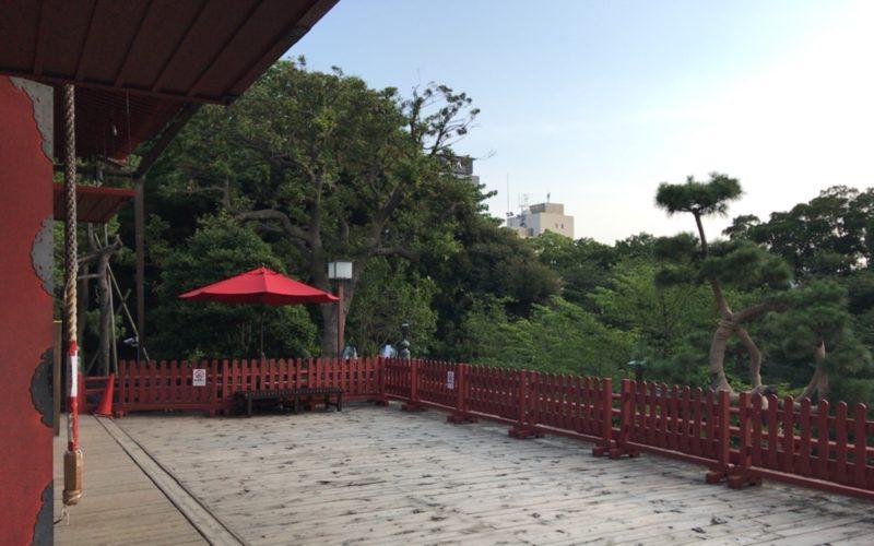 上野公園内にある清水観音堂の舞台