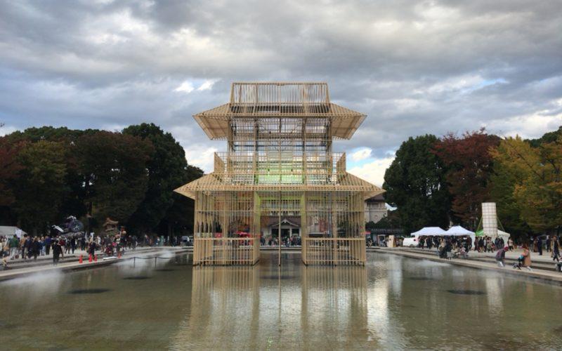 上野公園で開催したイベント「TOKYO数寄フェス」に展示していた大巻伸嗣さんのインスタレーション「プラネテス」