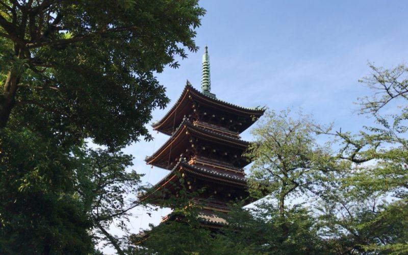 上野公園内にそびえる旧寛永寺五重塔