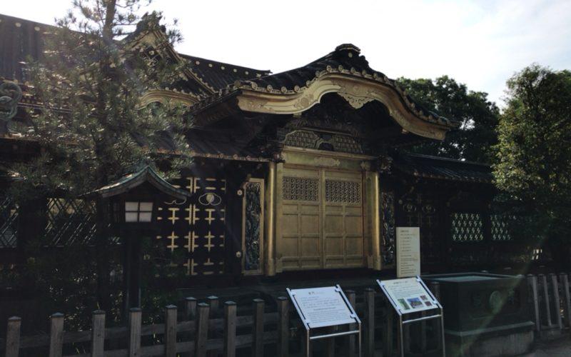 上野公園内にある上野東照宮の唐門