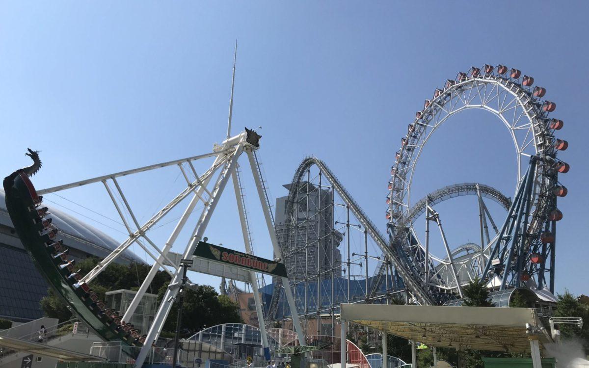 東京ドームシティアトラクションズとラクーアのアトラクション