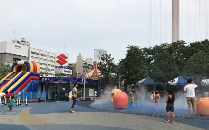 東京ドームシティ アトラクションズで開催した「わくわく!ウォーターガーデン」の会場内