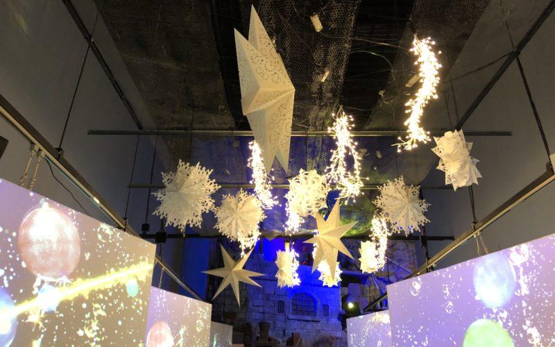 アクアパーク品川で開催したスターアクアリウム ブライトクリスマスの会場内