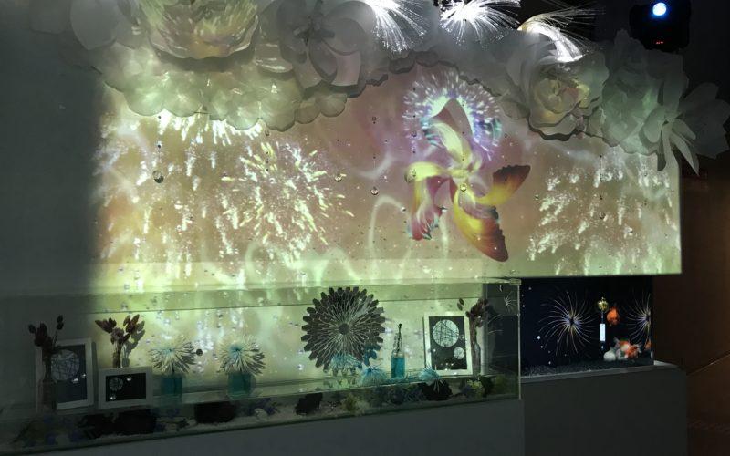 アクアパーク品川のイベントとして開催した花火アクアリウム バイ ネイキッドの金魚花火
