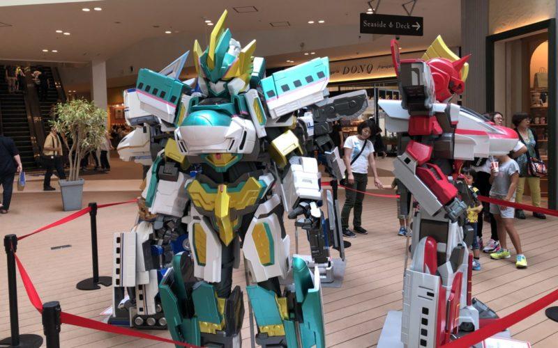 ららぽーと豊洲で開催した「夏休みシンカリオンスペシャルキャンペーン」の会場