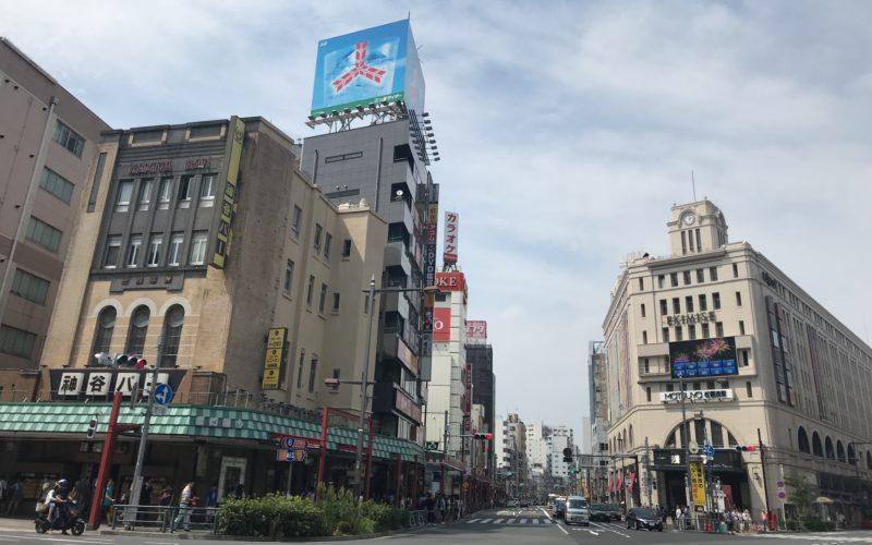 松屋浅草とエキミセの建物