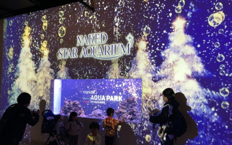 アクアパーク品川で開催した「NAKED STAR AQUARIUM 星空のクリスマス」の会場内
