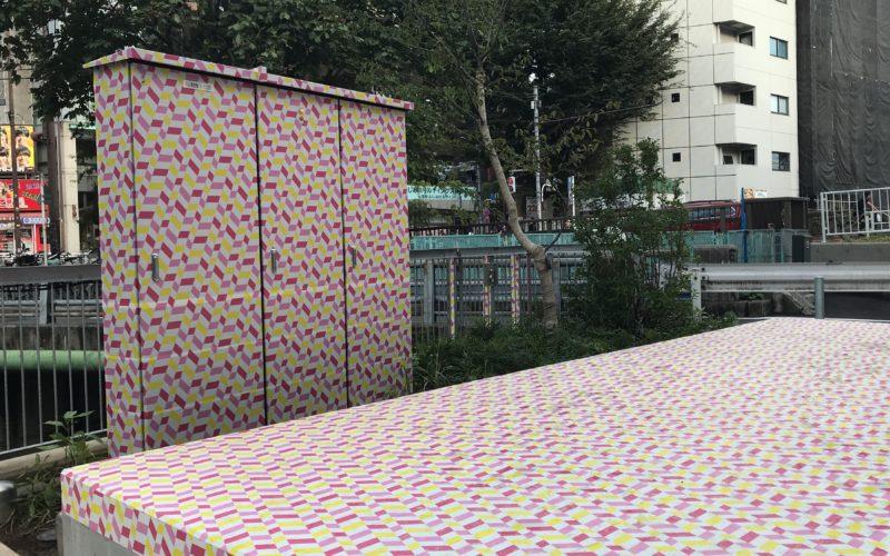 渋谷ストリームで開催したmt meets Shibuya River Fesのマスキングテープアート
