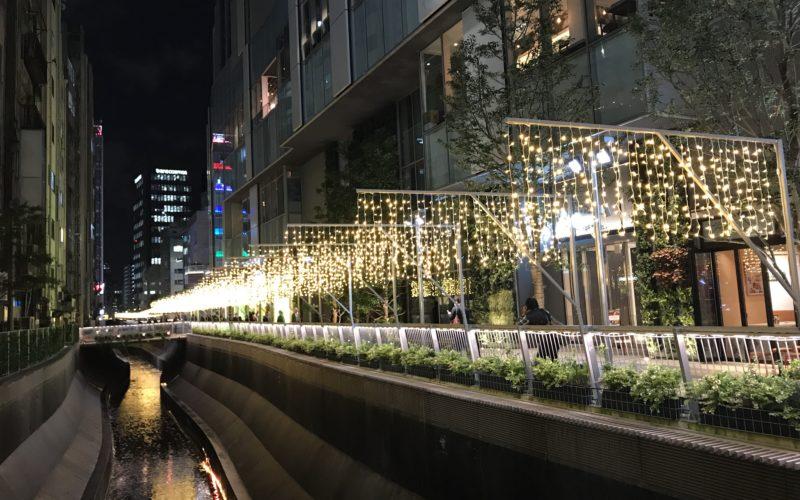 渋谷川沿い遊歩道で開催した「渋谷ウィンターイルミネーション 2018-2019 セレブレーション」の会場
