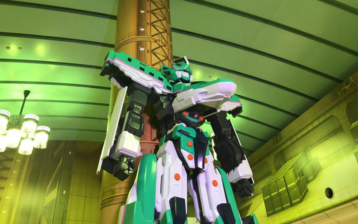 上野 シンカリオンステーションに展示していた1/5スケールのシンカリオンE5はやぶさ