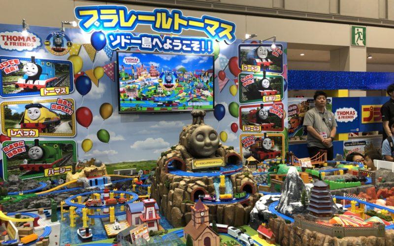 東京おもちゃショーに展示していたプラレールトーマス