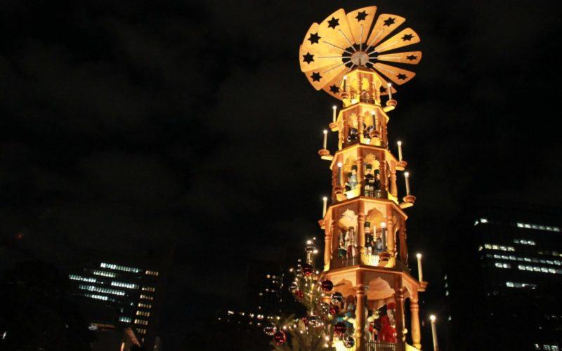 日比谷公園の噴水広場で開催した東京クリスマスマーケットの会場