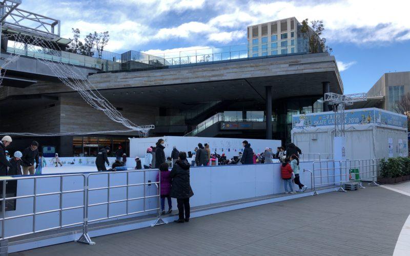 二子玉川ライズの中央広場で開催したイベント「二子玉川ライズ スケートガーデン」