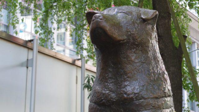 渋谷駅ハチ公口の忠犬ハチ公像
