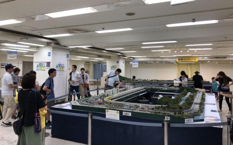 京王新宿店で開催した鉄道フェスティバルの会場内